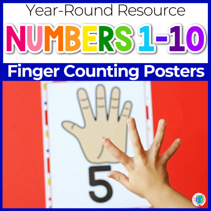 finger counting number posters for preschool