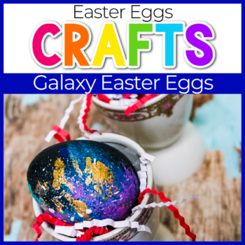 galaxy theme easter eggs craft for kids