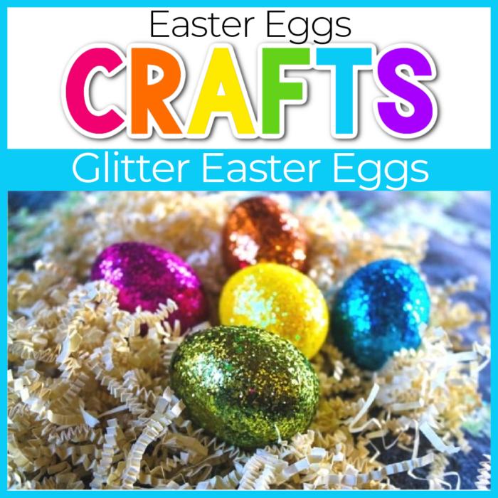glitter eater eggs craft for kids
