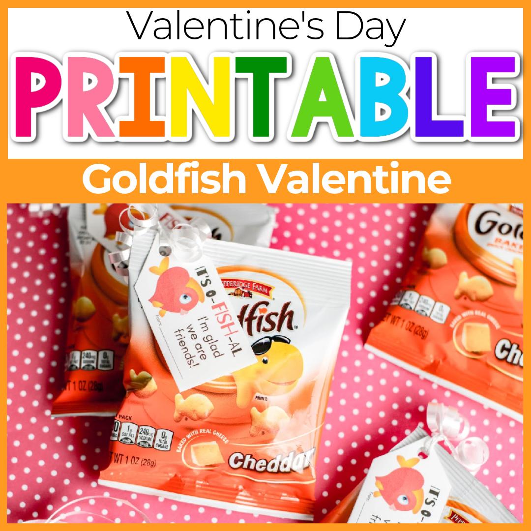 Printable Goldfish Valentine Cards for Kids