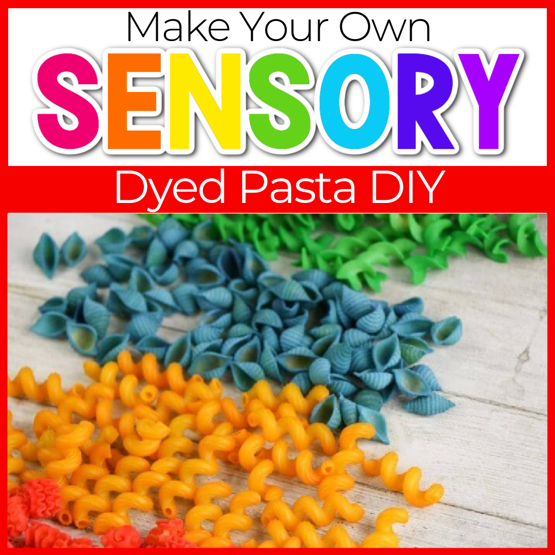 How to Dye Pasta for Sensory Play and Crafts