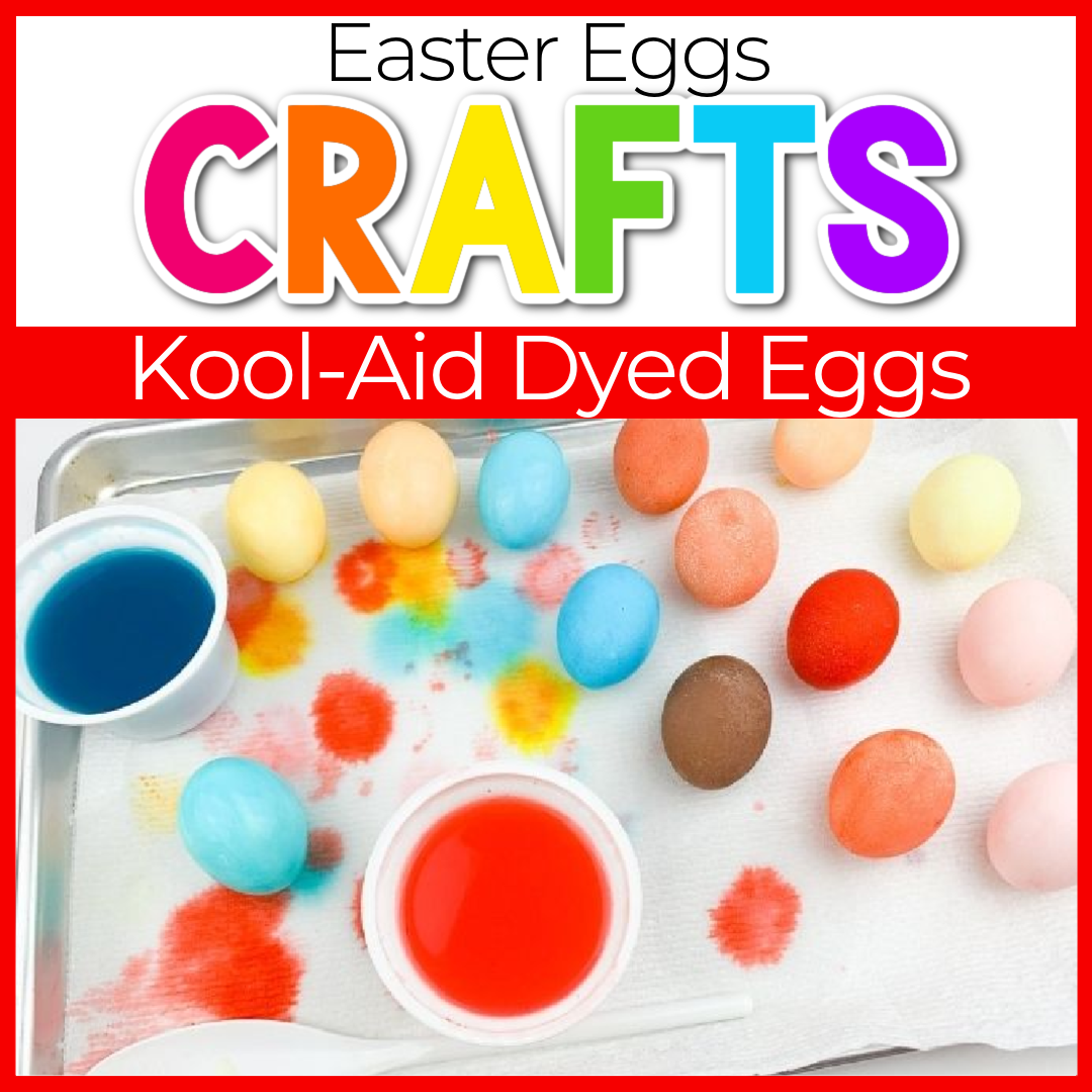 kool aid dyed easter eggs craft for kids