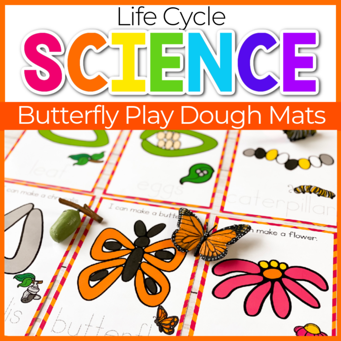 life cycle of a butterfly play dough mats