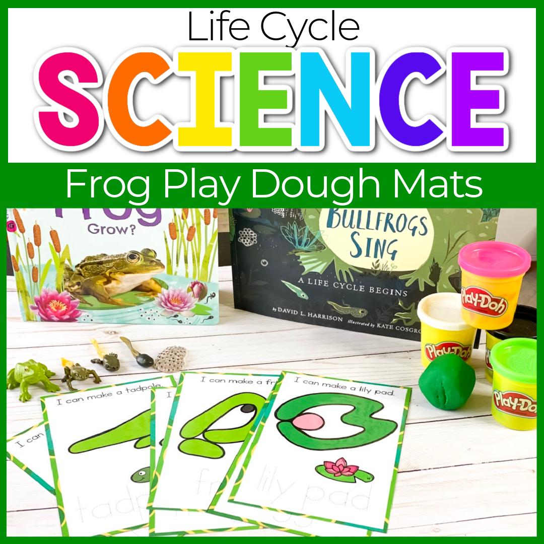 life cycle of a frog play dough mats
