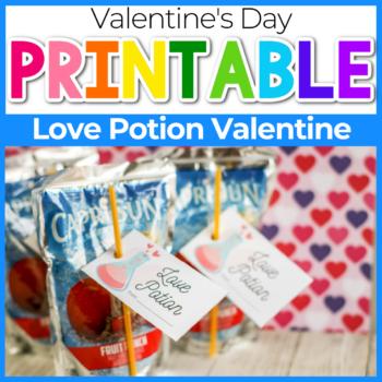 love potion juice box valentine for kids
