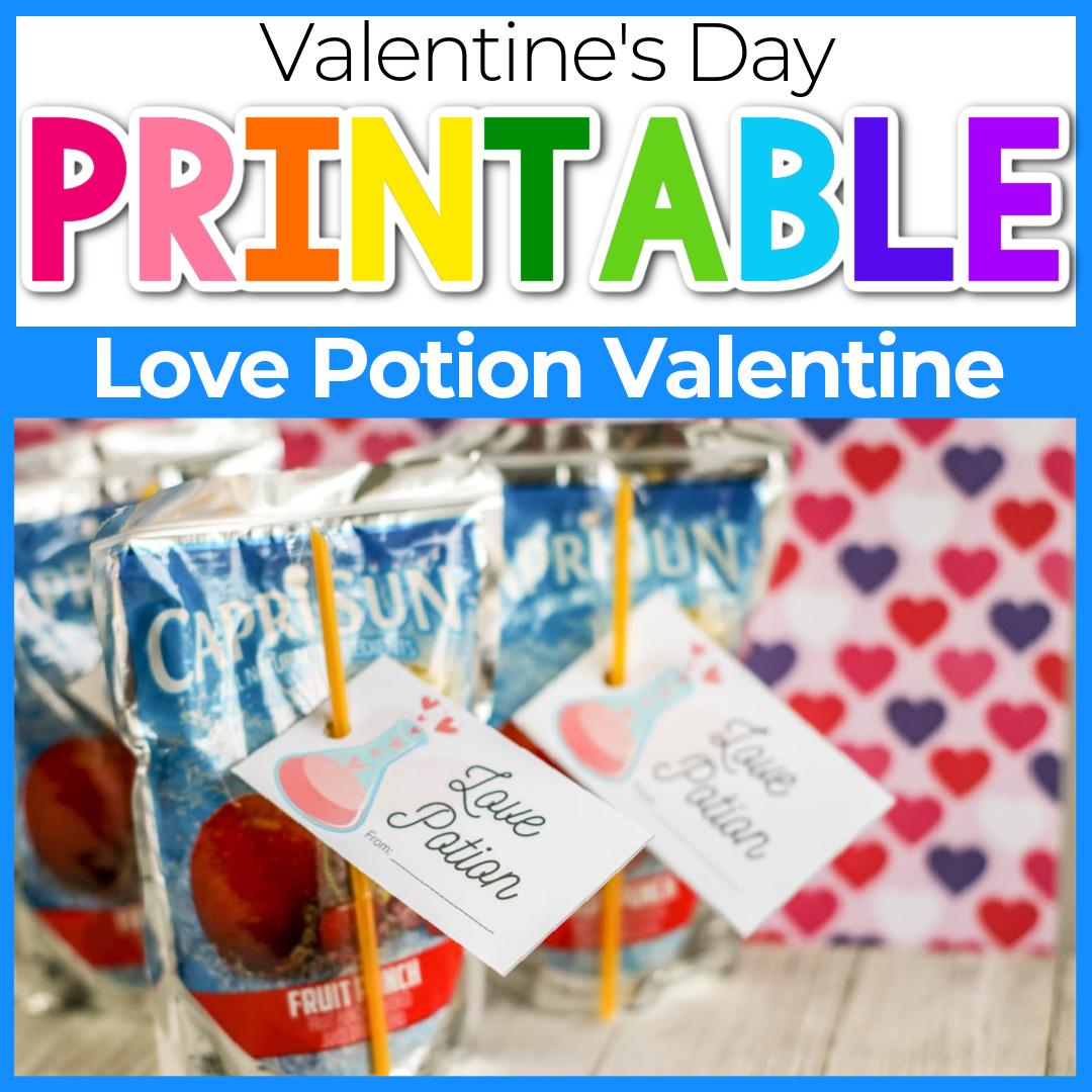 Love Potion Juice Box Valentine's Day Card for Kids