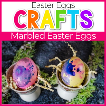 marbled easter eggs craft for kids