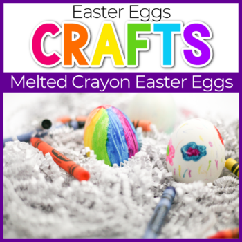 melted crayon easter eggs craft for kids