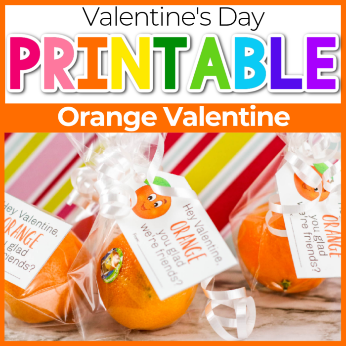 orange valentine printable for kids