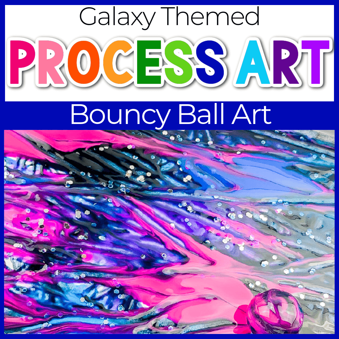 Spaced Themed Bouncy Ball Process Art Activities for Preschoolers