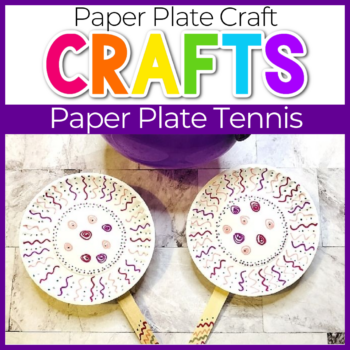paper plate tennis craft for kids