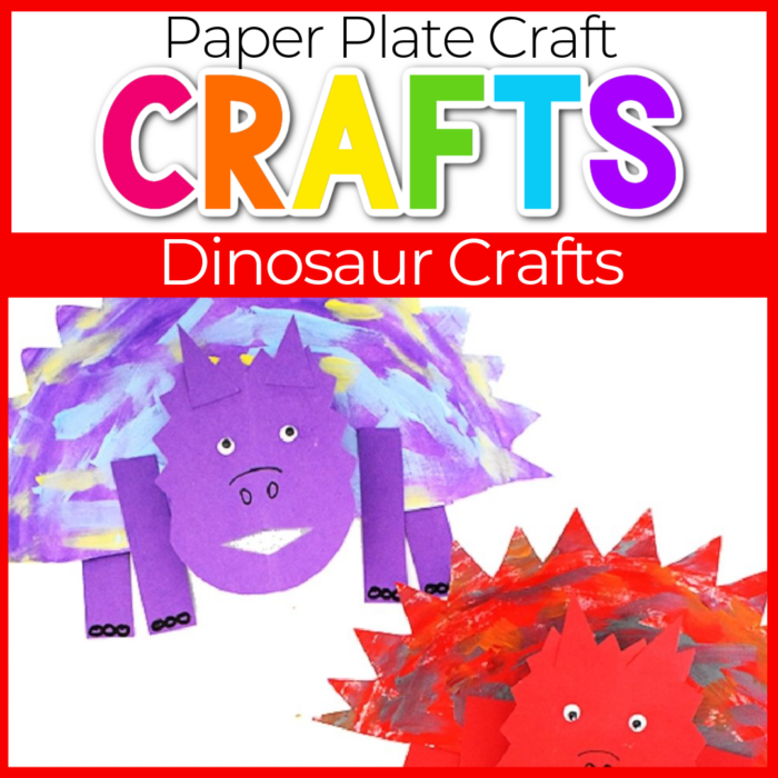paper plated dinosaur craft