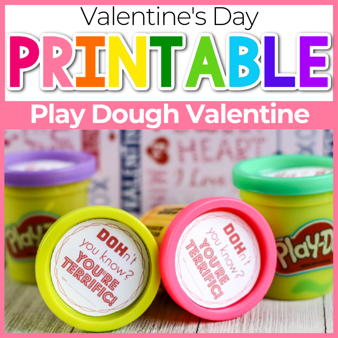 Free Printable Play Doh Valentine Cards for Kids