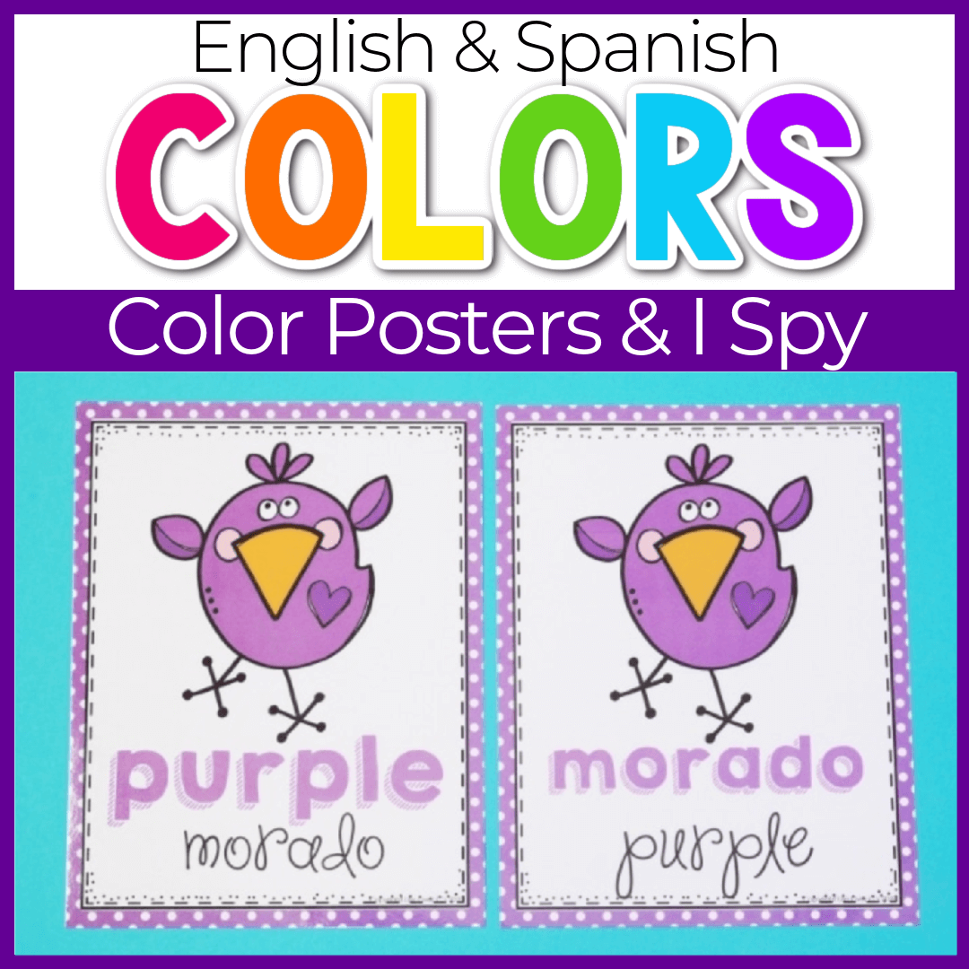 Preschool Color Posters for Spring Theme