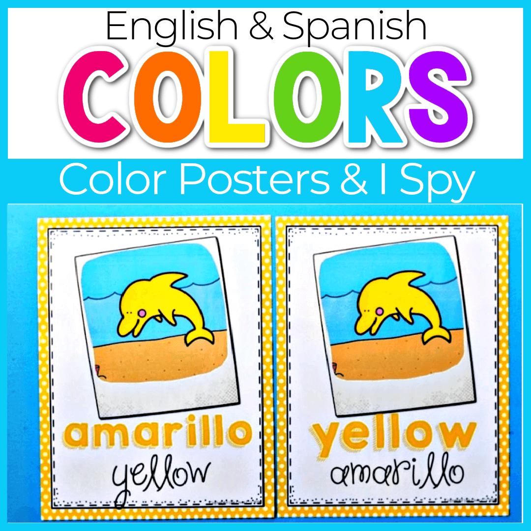 Ocean I Spy Colors Poster Set for Preschool