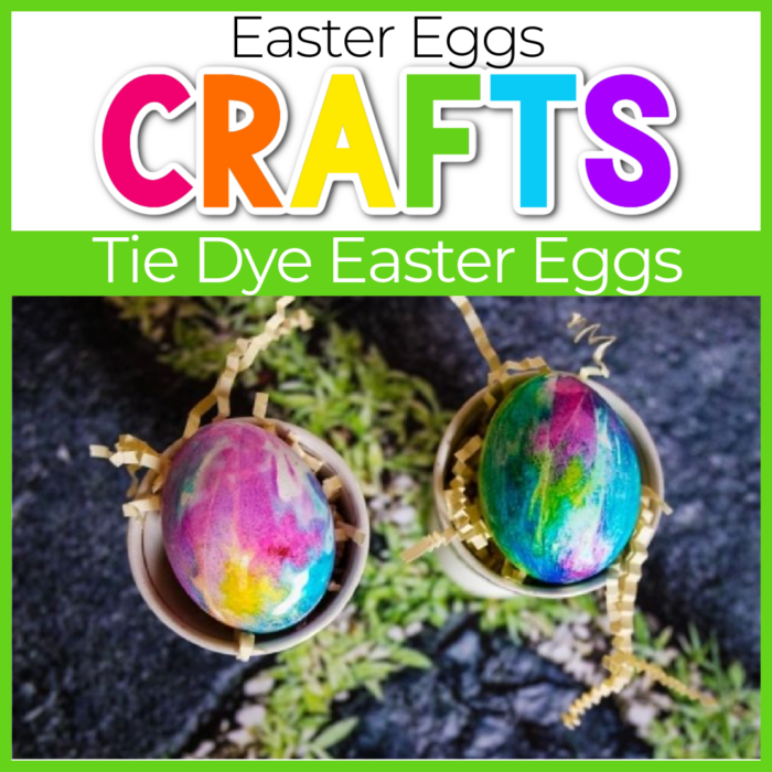 tie dye easter eggs craft for kids