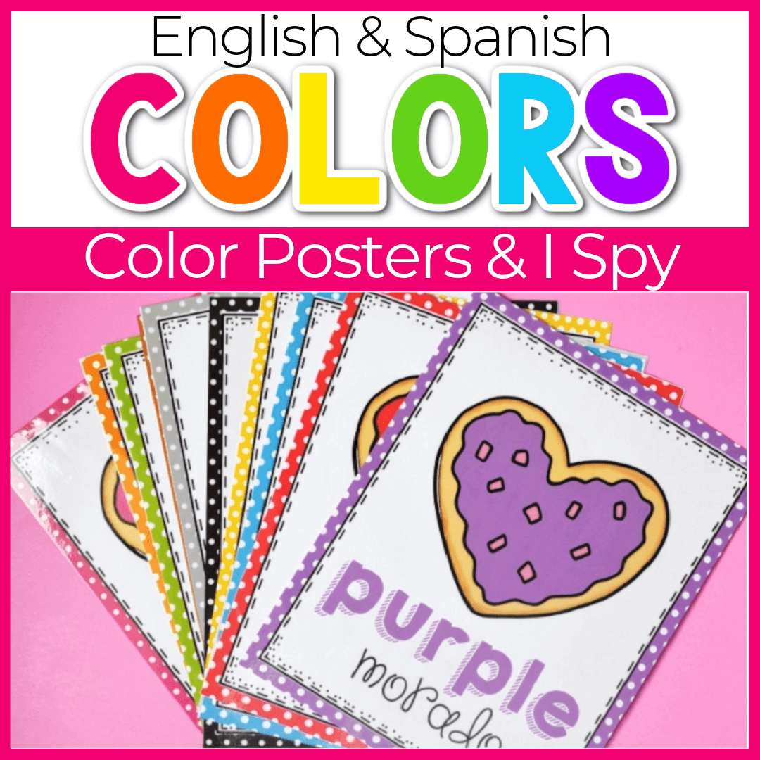valentines day color posters for preschool