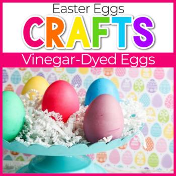 vinegar dyed easter eggs craft for kids