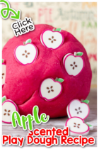 Easy Apple Scented Play Dough Recipe