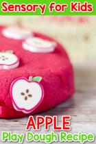 DIY Apple Play Dough Recipe