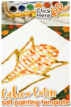 Calico Corn Salt Painting Activity for Kids