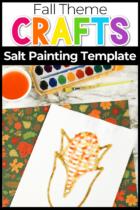 Fall Theme Salt Painting Template