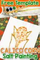 Calico Corn Salt Painting