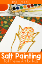 Salt Painting Fall Theme Art for Kids
