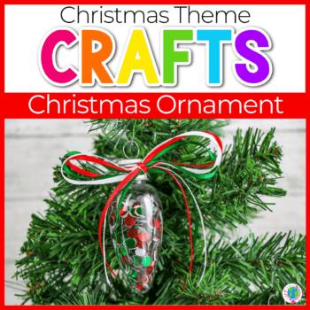 Easy Fine Motor Preschool Christmas Ornaments image.