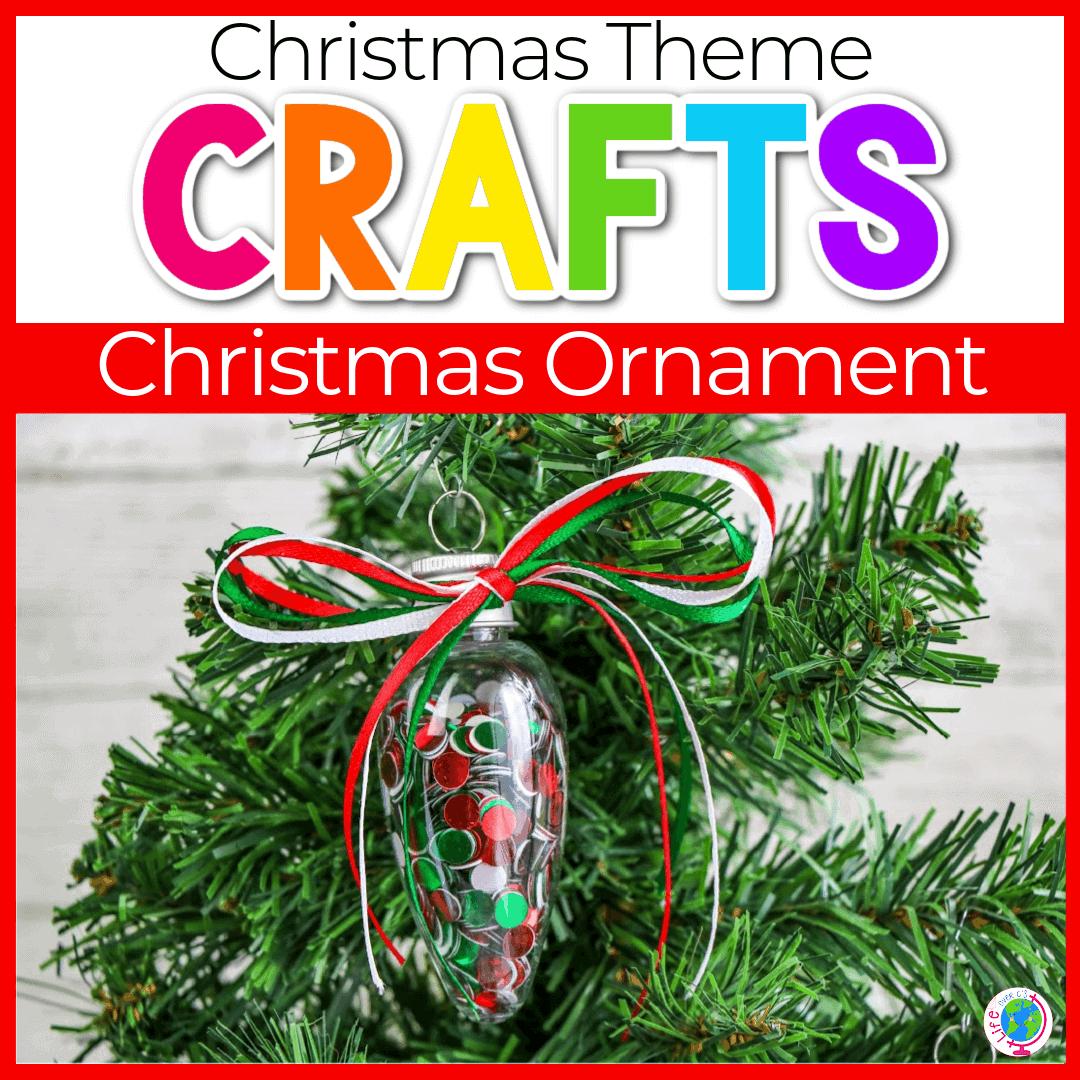 Easy Fine Motor Preschool Christmas Ornaments