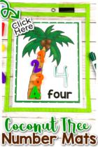 Chicka, Chicka, 1, 2, 3, Counting Mats for Preschool