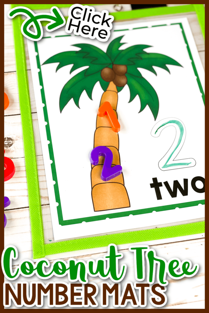 Coconut Tree Number Mats