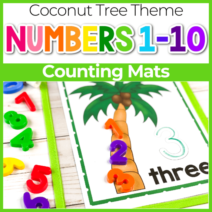 Chicka, Chicka, 1, 2, 3, Counting Mats for Preschool Featured Image