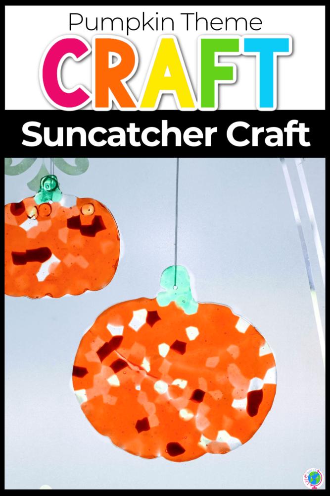 Pumpkin Theme Suncatcher Craft