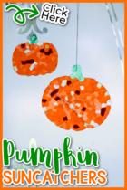 Easy DIY Pumpkin Suncatchers