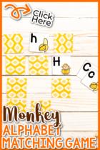 Monkey Alphabet Matching Game