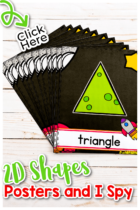 2D Shapes Posters and I Spy