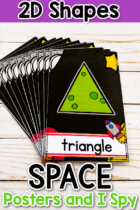 2D Shapes Space Posters and I Spy
