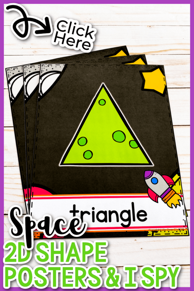 Space 2d Shape Posters and I Spy