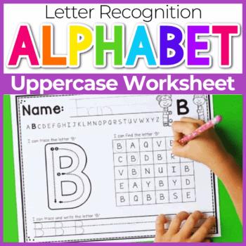 Kindergarten Alphabet Worksheets for Tracing Featured Image