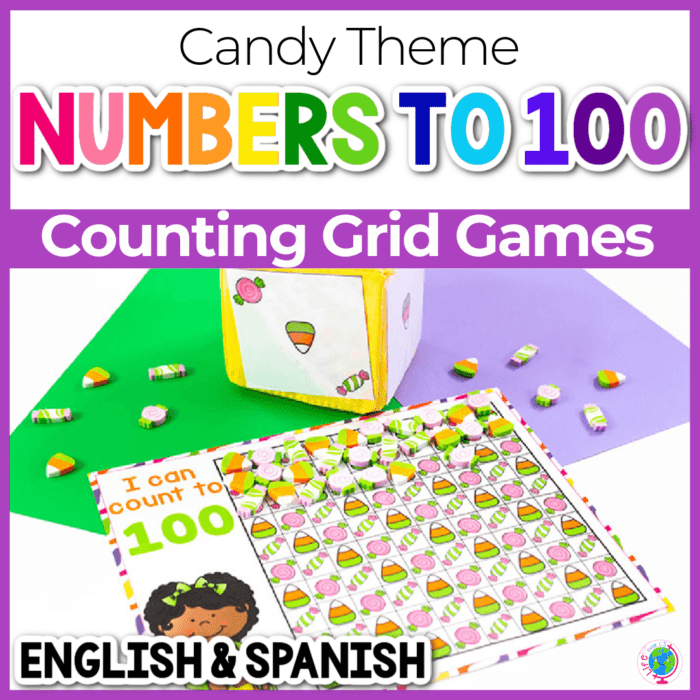 Candy mini eraser counting grids for fall numbers 10, 20 and 100 Featured Image