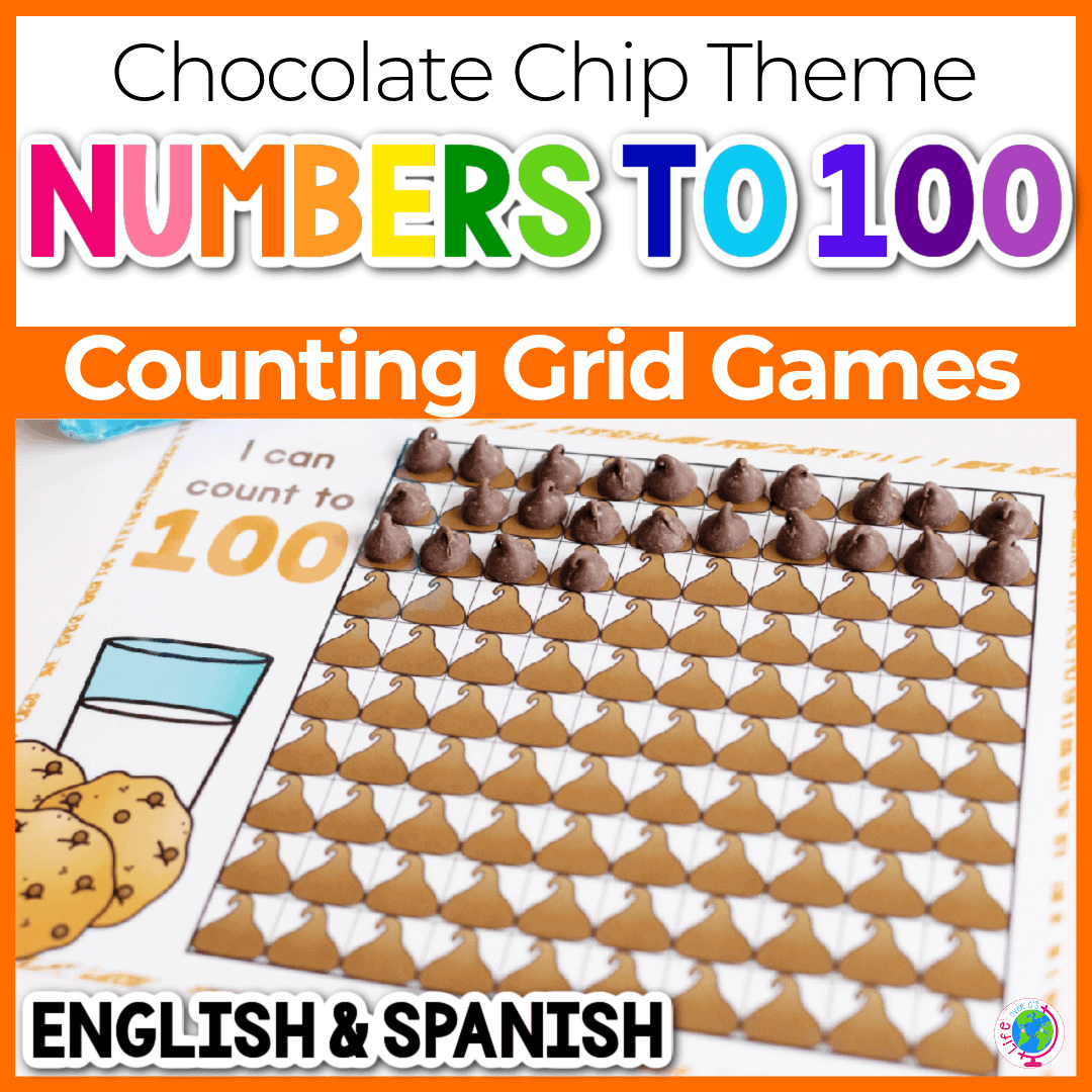 Chocolate Chip Counting Grids for Preschool