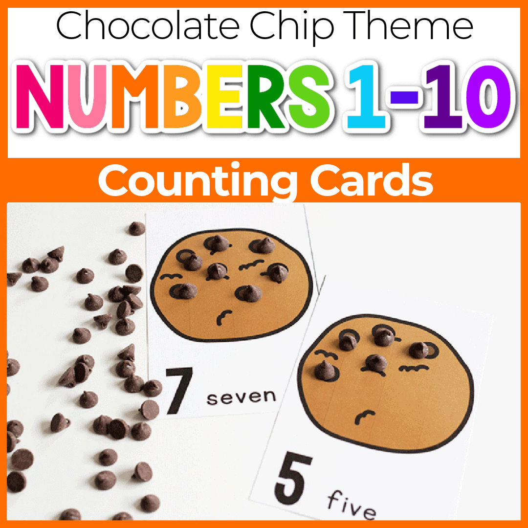 Free Printable Chocolate Chip Counting Cards For Preschool