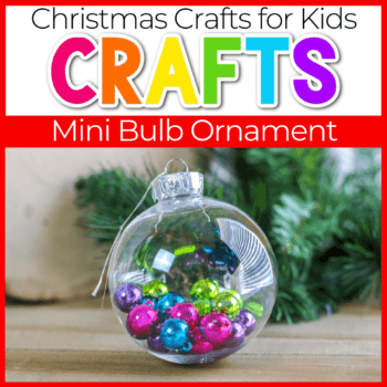 Christmas clear ornament filled with pink, blue, green and purple miniatured Christmas bulbs Featured Image