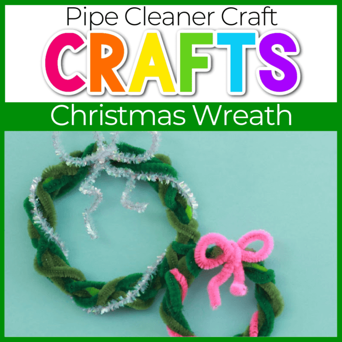 christmas pipe cleaner wreath featured image