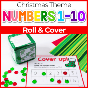 Christmas theme cover up game for numbers 1-5 Featured Image