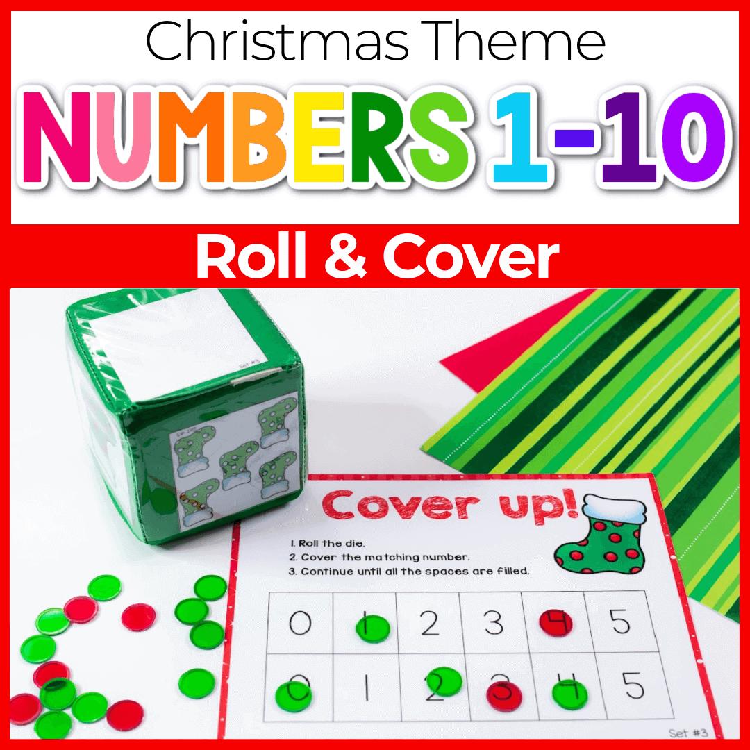 3 Christmas Math Games for Preschool