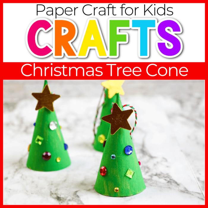 Easy Christmas tree craft for preschoolers.