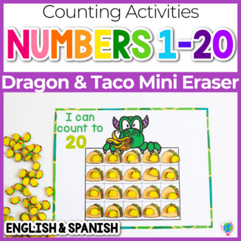 dragon and tacos counting grids for taco mini erasers numbers 10, 20 and 100 Featured Image