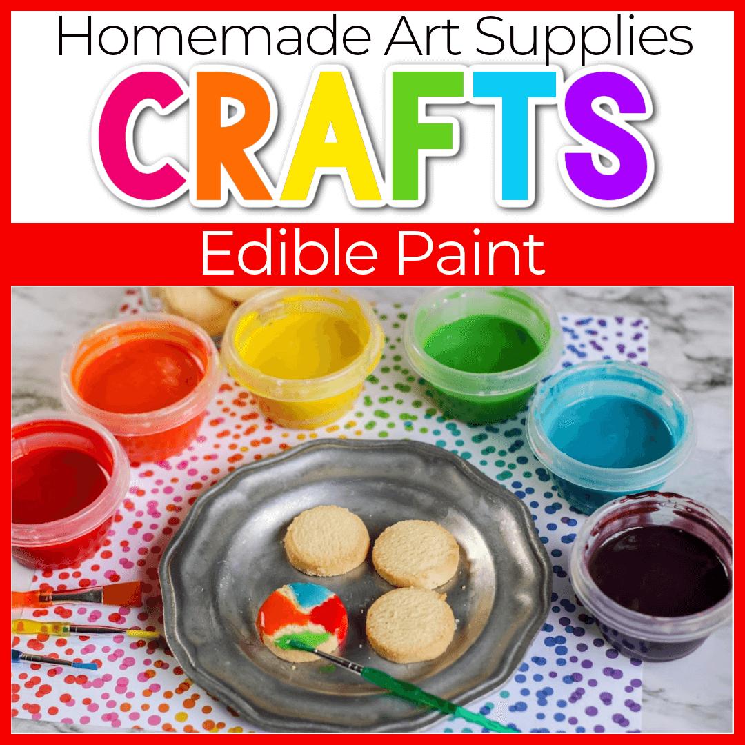 Kid's DIY Edible Paint for Cookies